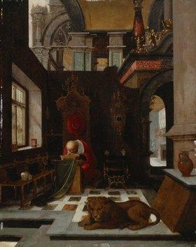 Hendrick Steenwijk: Der hl. Hieronymus in einem Interieur