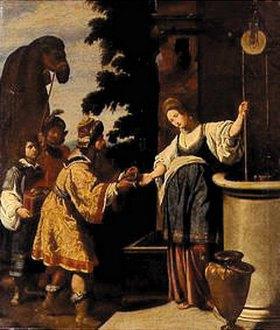 Lorenzo Lippi: Elieser und Rebecca am Brunnen