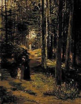 Hugo Mühlig: Spaziergang im Wald