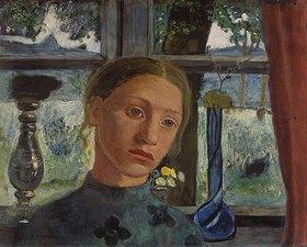 Paula Modersohn-Becker: Mädchenkopf vor einem Fenster
