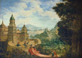 Albrecht Altdorfer: Allegorie. Der Bettel sitzt der Hoffart auf der Schleppe