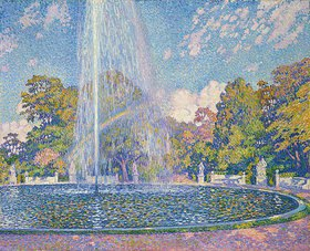 Theo van Rysselberghe: Springbrunnen in Sanssouci