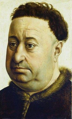 Meister von Flémalle (R.Campin): Bildnis des Robert de Masmines