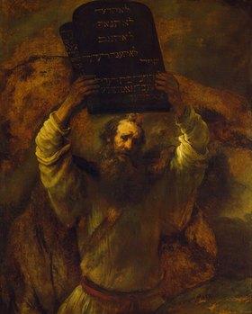 Rembrandt van Rijn: Moses zerschmettert die Gesetzestafeln. 1659