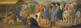 Masaccio: Die Anbetung der Könige (Mitteltafel einer Altarpredella)