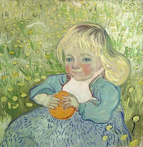 Vincent van Gogh: Kind mit Orange. Auvers-sur-Oise, Juni