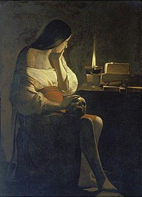 Georges de La Tour: Die hl.Magdalena mit dem Nachtlicht (genannt: Madeleine Terff)