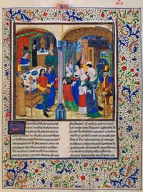 Handschrift (Quintus Curtius Rufus): Die Frauen des Darius vor Alexander dem Grossen