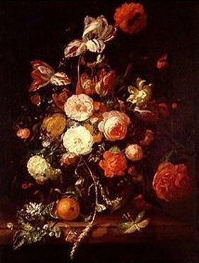 Rachel Ruysch: Blumenstrauss mit Orange