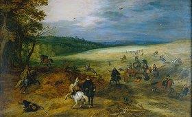 Sebastian Vrancx: Überfall eines Konvoi. (mit Jan Brueghel d.Ä.)