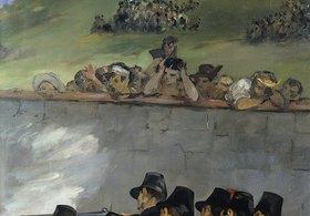 Edouard Manet: Die Erschiessung Kaiser Maximilians von Mexico 1867. Detail: Zuschauer