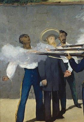 Edouard Manet: Die Erschiessung Kaiser Maximilians von Mexico 1867. Detail: Der Kaiser