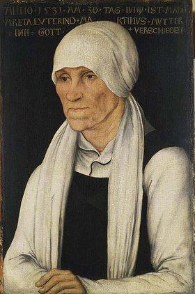Lucas Cranach d.Ä.: Die Mutter Martin Luthers, Bildnis