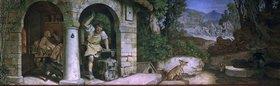 Moritz von Schwind: Der Schmied von Ruhla. Fresko im Landgrafenzimmer des Landgrafen-Hauses
