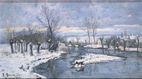 Paul Baum: Winterlandschaft an der Ilm bei Oberweimar