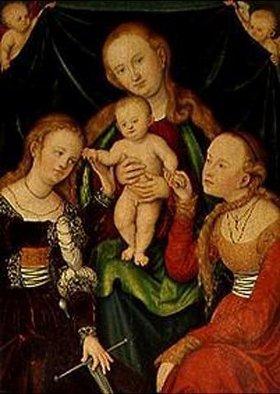 Lucas Cranach d.Ä.: Die Verlobung der hl.Katharina