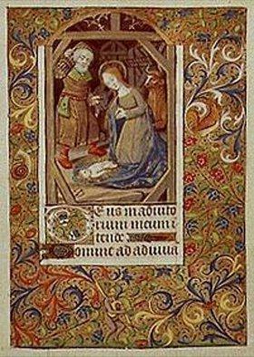 Handschrift: Geburt Christi. Aus einem Französischen Stundenbuch. Memb.II 176, 99v