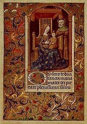 Handschrift: Die hl.Familie. Aus einem französischen Stundenbuch. Memb.II 176, 21v