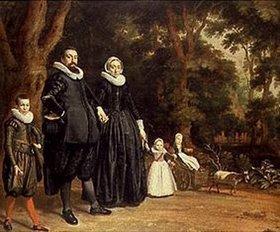 Thomas de Keyser: Familie auf dem Spaziergang