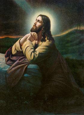 Anonym: Christus am Ölberg. Nazarenerstil der Romantik