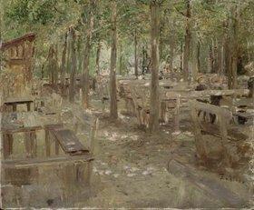 Fritz von Uhde: Biergarten in Dachau