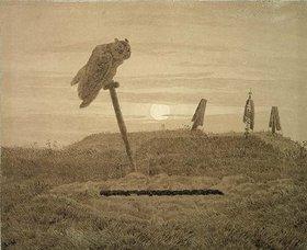 Caspar David Friedrich: Offenes Grab. Griseille