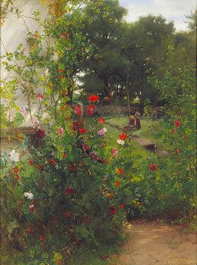 Johann Sperl: Leibls Garten in Aibling. Mitte 1880-er Jahre(?)