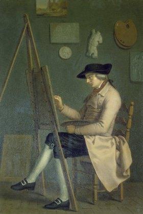 Johann Heinrich Wilhelm Tischbein: Selbstbildnis an der Staffelei
