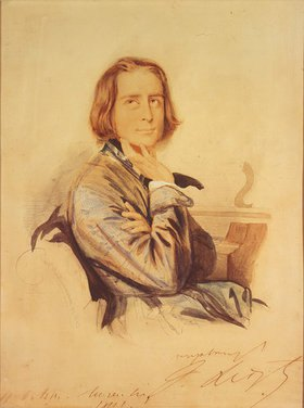 Carl Hartmann: Bildnis Franz Liszt. 1843.