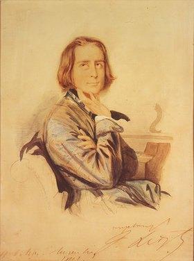Carl Hartmann: Bildnis Franz Liszt