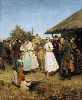 Lajos Deák-Ebner: Hochzeit in einem ungarischen Dorf