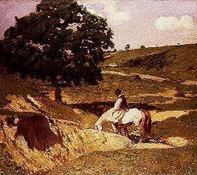 Béla Iványi-Grünwald: An der Pferdetränke