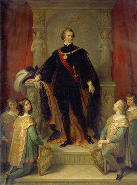 Wilhelm von Kaulbach: König Ludwig I. von Bayern als Hubertusritter