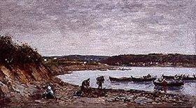 Eugène Boudin: Fischer am Strand bei Brest