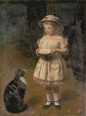 Otto Franz Scholderer: Blondes Mädchen mit Katze