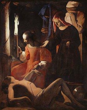 Georges de La Tour: Die hl.Irene pflegt den hl.Sebastian