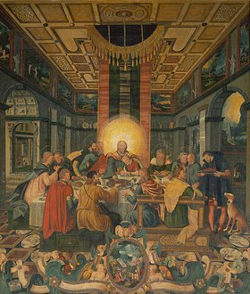 Heinrich Göding d.Ä.: Das letzte Abendmahl. Mitteltafel vom Altar der Frauenkirche in Mühlberg/Elbe