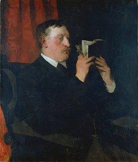 Wilhelm Trübner: Bildnis des Dichters Martin Greif