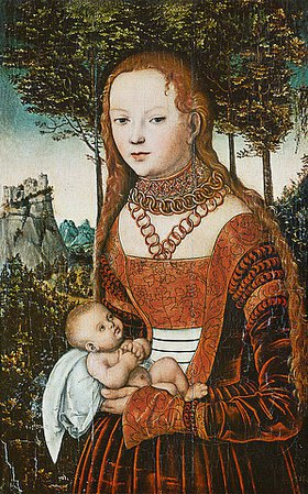 Lucas Cranach d.Ä.: Mutter mit Kind