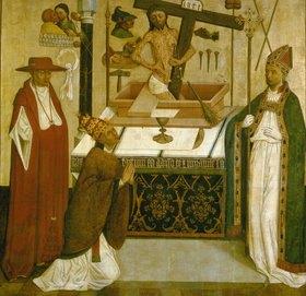 unbekannter deutscher Meister: Die Messe des hl.Gregor