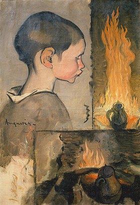 Louis Anquetin: Kind und Feuerstelle