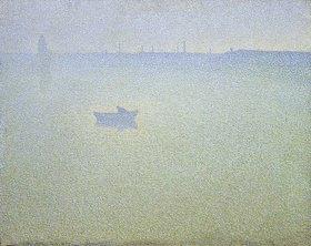 Charles Angrand: Morgendämmerung über der Seine
