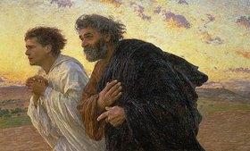 Eugene Burnand: Am Morgen der Auferstehung. Die Jünger Petrus und Johannes auf dem Weg zum Grab
