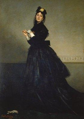 Carolus-Duran (Charles Durant): Die Dame mit dem Handschuh (Madame Carolus-Duran)