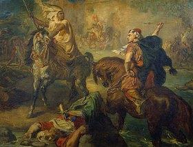 Theodore Chasseriau: Reiterkampf zwischen arabischen Stammesfürsten