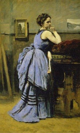 Jean-Baptiste Camille Corot: Die Dame in Blau