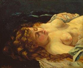 Gustave Courbet: Schlafende rothaarige Frau