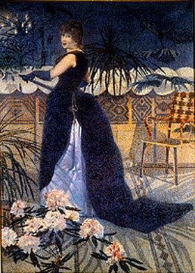 Henri Edmond Cross: Madame Hector France, die Frau des Künstlers, stehend