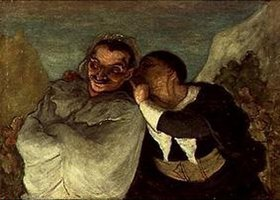 Honoré Daumier: Crispin und Scapin. Gegen