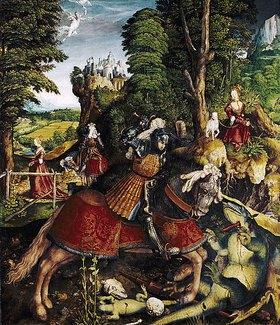 Leonhard Beck: Der hl.Georg im Kampf mit dem Drachen